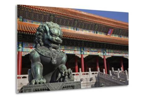 Dragon Bronze Statue with Hand , the Ming Dynasty-William Perry-Metal Print