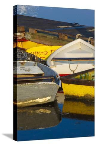 Skiffs at the Dock in Pamet Harbor in Truro, Massachusetts. Cape Cod-Jerry and Marcy Monkman-Stretched Canvas Print