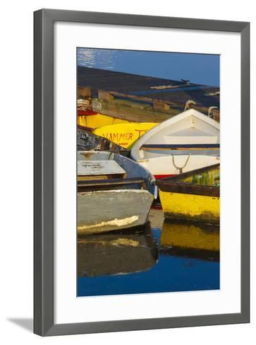 Skiffs at the Dock in Pamet Harbor in Truro, Massachusetts. Cape Cod-Jerry and Marcy Monkman-Framed Art Print
