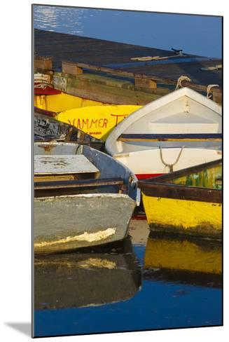 Skiffs at the Dock in Pamet Harbor in Truro, Massachusetts. Cape Cod-Jerry and Marcy Monkman-Mounted Photographic Print