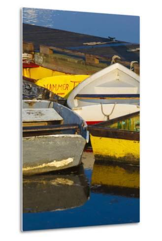 Skiffs at the Dock in Pamet Harbor in Truro, Massachusetts. Cape Cod-Jerry and Marcy Monkman-Metal Print