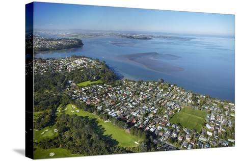 Titirangi Golf Course, Green Bay, and Manukau Harbour, Auckland, North Island, New Zealand-David Wall-Stretched Canvas Print