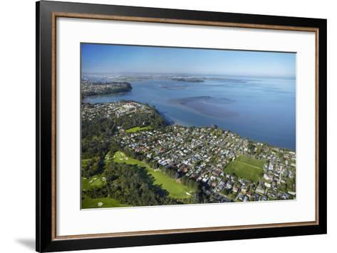 Titirangi Golf Course, Green Bay, and Manukau Harbour, Auckland, North Island, New Zealand-David Wall-Framed Art Print