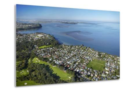 Titirangi Golf Course, Green Bay, and Manukau Harbour, Auckland, North Island, New Zealand-David Wall-Metal Print