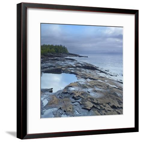 Lake Superior, Artists Point Grand Marais, Minnesota-Tim Fitzharris-Framed Art Print