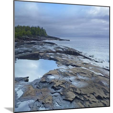 Lake Superior, Artists Point Grand Marais, Minnesota-Tim Fitzharris-Mounted Photographic Print