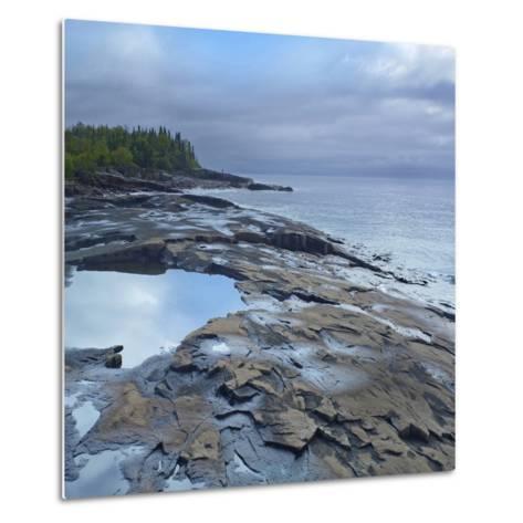 Lake Superior, Artists Point Grand Marais, Minnesota-Tim Fitzharris-Metal Print