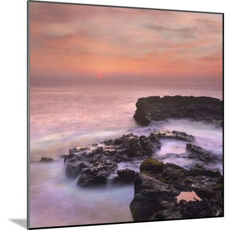 Pink Sunset, the Big Island, Hawaii, Usa-Tim Fitzharris-Mounted Photographic Print
