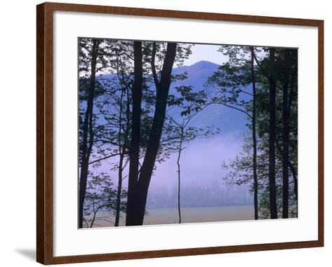 Fog over Cades Cove, Great Smokey Mountains National Park, Tennessee, Usa-Tim Fitzharris-Framed Art Print
