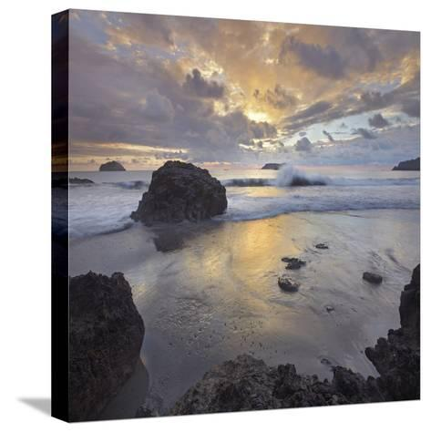 Sunset Light on the Clouds over the Ocean, Manuel Antonio National Park, Costa Rica-Tim Fitzharris-Stretched Canvas Print