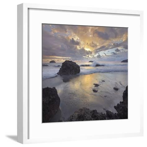 Sunset Light on the Clouds over the Ocean, Manuel Antonio National Park, Costa Rica-Tim Fitzharris-Framed Art Print