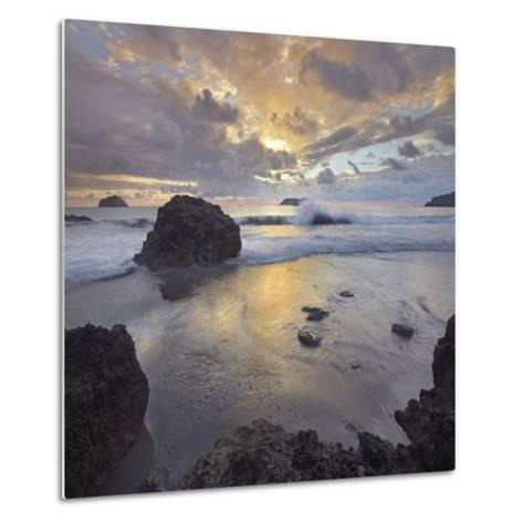 Sunset Light on the Clouds over the Ocean, Manuel Antonio National Park, Costa Rica-Tim Fitzharris-Metal Print
