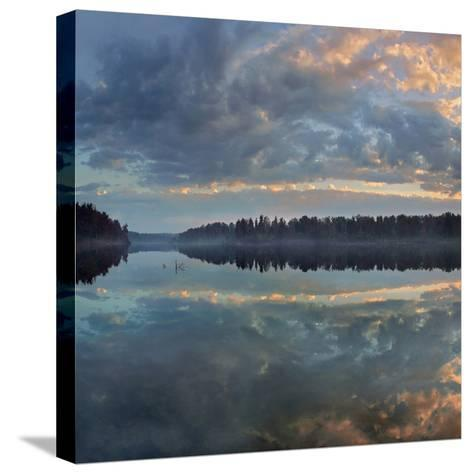 Beautifully Lit Clouds Drift over Lake Jean, Ricketts Glen State Park, Pennsylvania, Usa-Tim Fitzharris-Stretched Canvas Print