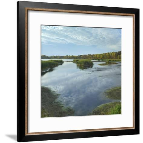 Clouds Reflect in the Pembina River Backwaters, Manitoba-Tim Fitzharris-Framed Art Print