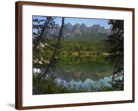 Yellowhead Mountain, Yellowhead Lake, Mount Robson Provincial Park, British Columbia, Canada-Tim Fitzharris-Framed Art Print