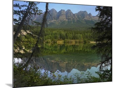 Yellowhead Mountain, Yellowhead Lake, Mount Robson Provincial Park, British Columbia, Canada-Tim Fitzharris-Mounted Photographic Print