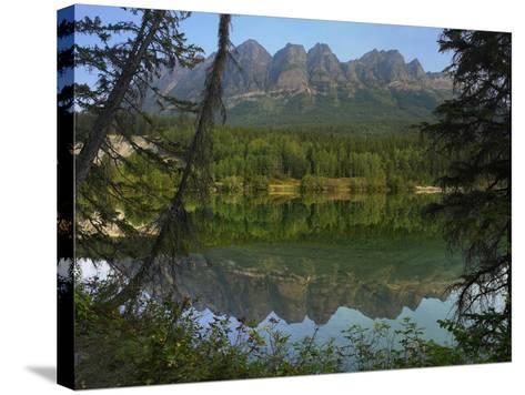 Yellowhead Mountain, Yellowhead Lake, Mount Robson Provincial Park, British Columbia, Canada-Tim Fitzharris-Stretched Canvas Print
