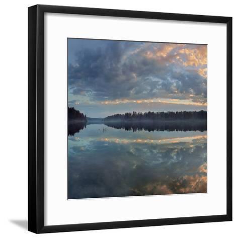 Beautifully Lit Clouds Drift over Lake Jean, Ricketts Glen State Park, Pennsylvania, Usa-Tim Fitzharris-Framed Art Print