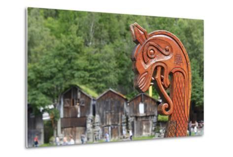Unesco World Heritage Site. Viking Ship Replica. Geiranger, Norway-Tom Norring-Metal Print