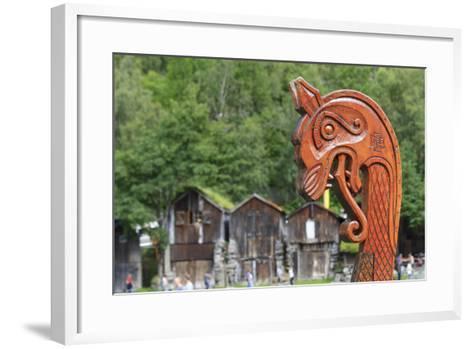 Unesco World Heritage Site. Viking Ship Replica. Geiranger, Norway-Tom Norring-Framed Art Print