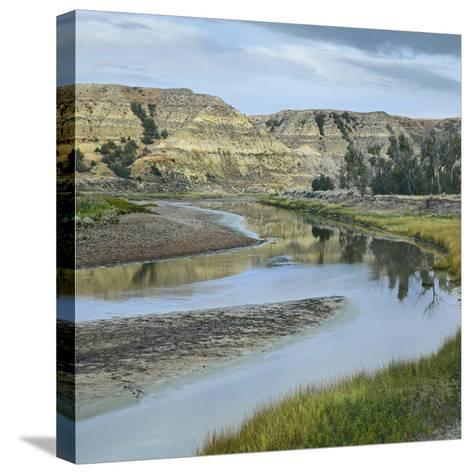 Little Missouri River, Theodore Roosevelt National Park, North Dakota-Tim Fitzharris-Stretched Canvas Print