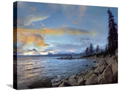 Pyramid Lake at Sunset, Nevada, Usa-Tim Fitzharris-Stretched Canvas Print