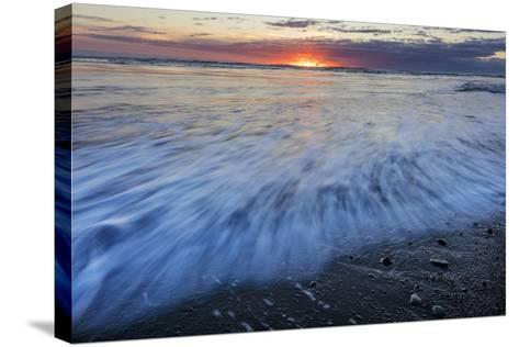 Sunrise over the North Atlantic Ocean at Jokulsarlon, Iceland-Chuck Haney-Stretched Canvas Print