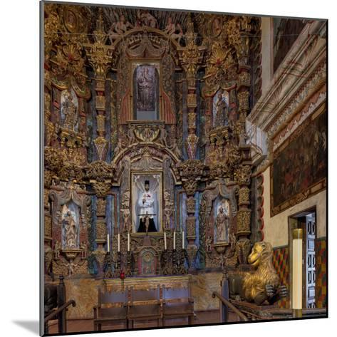 Mission San Xavier in Tucson, Arizona, Usa-Chuck Haney-Mounted Photographic Print