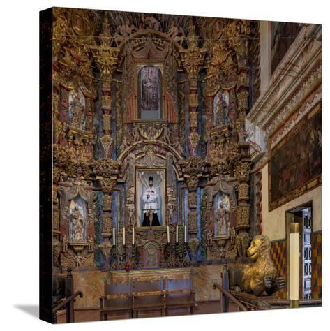 Mission San Xavier in Tucson, Arizona, Usa-Chuck Haney-Stretched Canvas Print