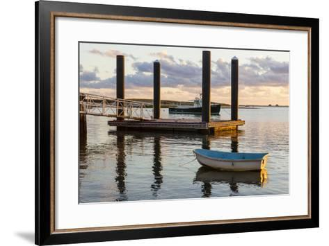 Skiffs Next to the Commercial Fishing Pier in Chatham, Massachusetts. Cape Cod-Jerry and Marcy Monkman-Framed Art Print