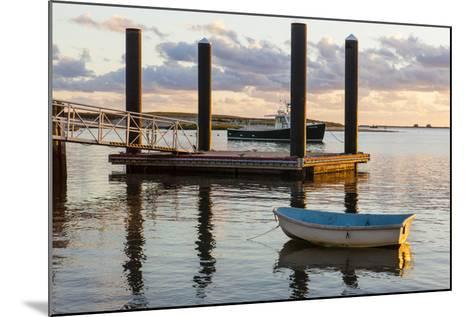 Skiffs Next to the Commercial Fishing Pier in Chatham, Massachusetts. Cape Cod-Jerry and Marcy Monkman-Mounted Photographic Print