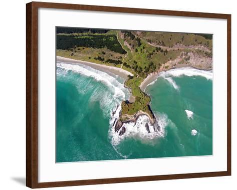 Mapoutahi, Historic Maori Pa Site, North of Dunedin, South Island, New Zealand-David Wall-Framed Art Print