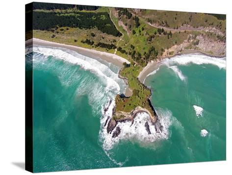 Mapoutahi, Historic Maori Pa Site, North of Dunedin, South Island, New Zealand-David Wall-Stretched Canvas Print