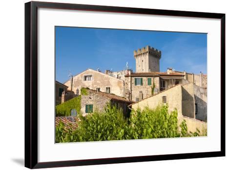 Medieval Fortress, Capalbio, Grosseto Province, Tuscany, Italy-Nico Tondini-Framed Art Print