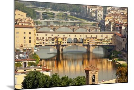 Ponte Vecchio Covered Bridge over Arno River, Florence, Italy-William Perry-Mounted Photographic Print