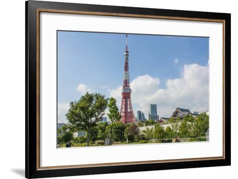 Tokyo, Japan. Tokyo Tower and the Zojo-Ji Temple in Shiba Neighborhood-Bill Bachmann-Framed Art Print