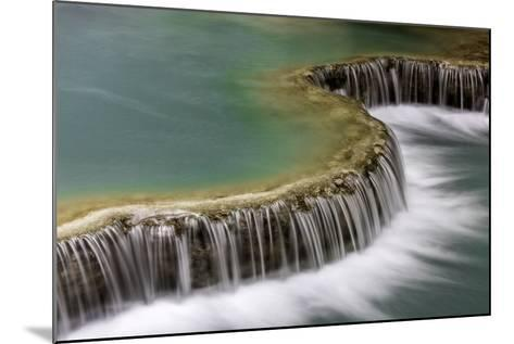 Waterfall in Laos-Art Wolfe-Mounted Photographic Print
