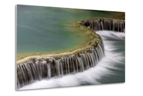 Waterfall in Laos-Art Wolfe-Metal Print