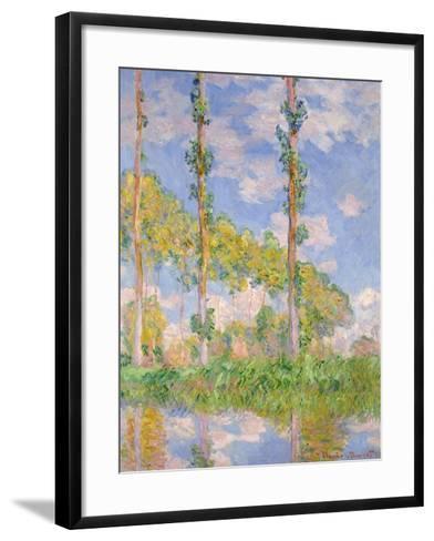 Poplars In The Sun-Claude Monet-Framed Art Print