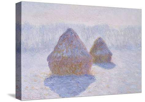Haystacks, 1891-Claude Monet-Stretched Canvas Print