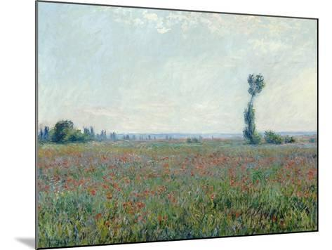 Poppy Field, 1881-Claude Monet-Mounted Giclee Print