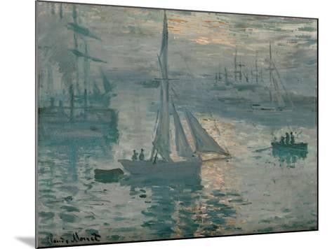Sunrise, 1873-Claude Monet-Mounted Giclee Print
