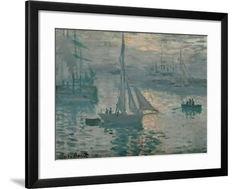 Sunrise, 1873-Claude Monet-Framed Art Print