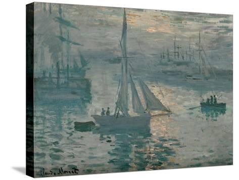 Sunrise, 1873-Claude Monet-Stretched Canvas Print