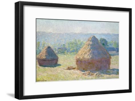 Haystacks, 1891-Claude Monet-Framed Art Print