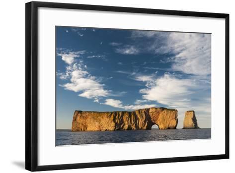 Perce Rock in the Gulf of Saint Lawrence-David Doubilet-Framed Art Print
