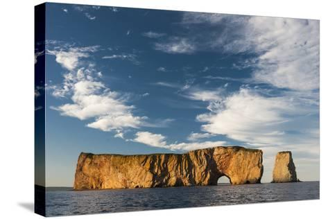 Perce Rock in the Gulf of Saint Lawrence-David Doubilet-Stretched Canvas Print