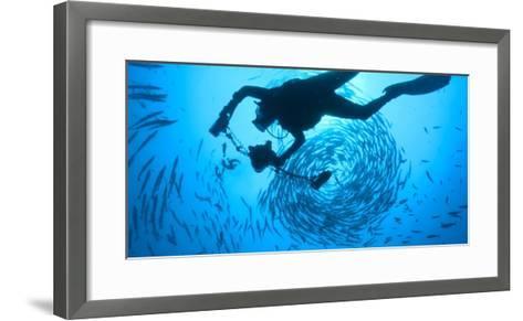 Photographer David Doubilet Swims in the Pacific Reef at Kimbe Bay-David Doubilet-Framed Art Print