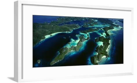 Karst Beehive Islands That Form the Wayag Island Group in Raja Ampat, Indonesia-David Doubilet-Framed Art Print