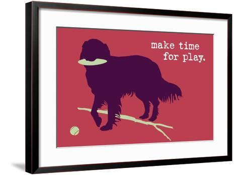 Time For Play - Red Version-Dog is Good-Framed Art Print